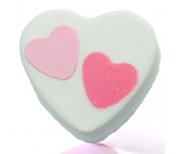 Bomb Cosmetics Heart to Heart - Heart 2 Heart Sparkling bathing ball 100 g
