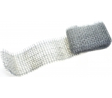 Ditipo Metallic Ribbon Jute Silver 2 mx 5 cm