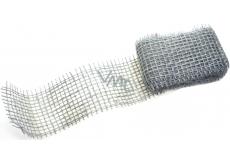 Ditipo Jutová stuha metalická Stříbrná 2 m x 5 cm 2824001