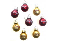 Albi Christmas ball Ales 2 cm