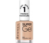 Rimmel London Super Gel French Manicure lak na nehty 093 Caramel Nude 12 ml