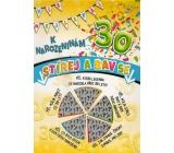 Nekupto Wiping birthday wishes 30 G 30 3356 32 x 23 cm