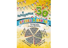 Nekupto Birthday Scratch Card 32 x 23 cm 30 G 30 3356