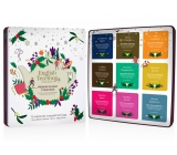 English Tea Shop Bio Christmas Premium Collection - White Christmas Night + Chai-e Charge + Irish Christmas + Coffee and Cocoa + Mint Punch + Ghostly Spice + Strong Peach + Festive Cheese + Winter Balance, 72 pieces, 9 flavors of 8 infusion bags, gift set in tin jar