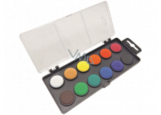 Koh-i-Noor School watercolor, black background 22.5 mm 12 colors