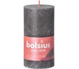 Bolsius Rustic candle dark gray cylinder 68 x 130 mm