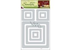 Square wall stickers 3D-Eva silver glitter 41 x 29 x 0.4 cm