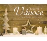 Nekupto Pohlednice vánoční Stromek, hvězda, svíčky V45 PA 15 x 11 cm