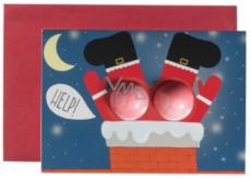 Bomb Cosmetics Pomoc Santovi Vánoční přání s balistikem 2 x 15 g