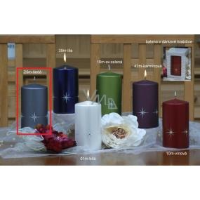 Lima Zircon candle gray cylinder 80 x 150 mm