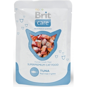 Brit Care Tuna pocket complete food for cats, pieces of meat with tuna flavor 80 g