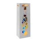 Ditipo Gift paper bag for bottle Glitter 12 x 35 x 9 cm silver, bottle, colored grapes