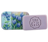 Bohemia Gifts Blue flowers - Lavender handmade toilet soap with glycerin in a tin box 80 g