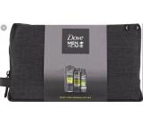 Dove Men + Care Extra Fresh shower gel 250 ml + antiperspirant deodorant spray 150 ml + shower foam 200 ml + etue, cosmetic set