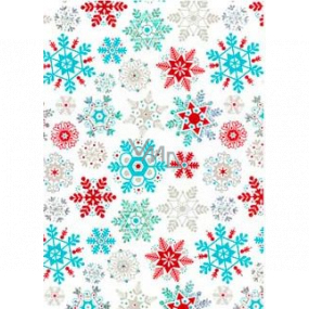 Ditipo Gift wrapping paper 70 x 150 cm Christmas white colored snowflakes