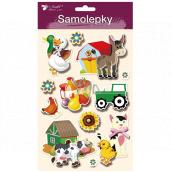 Stickers farm 3D Donkey 13 x 23 cm