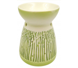 Porcelain aroma lamp with green decor 11 cm