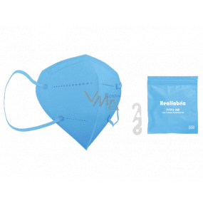 Healfabric Respirator oral protective 5-layer FFP2 face mask light blue 1 piece