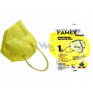 Famex Respirator oral protective 5-layer FFP2 face mask yellow 1 piece