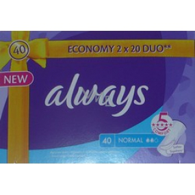 Always Normal Intimate Inserts 2 x 20 pieces