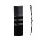Duko Hair clips black lacquer 7 cm 10 pieces