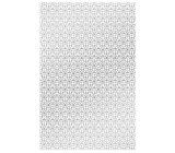 Ditipo Gift wrapping paper 70 x 200 cm white with silver ornaments