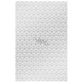 Ditipo Wrapping paper white with silver ornaments 100 x 70 cm 2 pieces