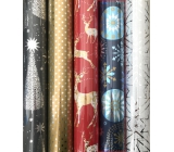 Zöwie Gift wrapping paper 70 x 150 cm Christmas Luxury Platinum blue - gold and blue snowflakes
