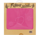 Albi Fitness Towel Heart pink 90 x 50 cm