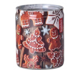 Bolsius Christmas gingerbread scented candle in glass 68 x 80 cm, burning time 23 hours