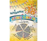 Nekupto Scratch card for birthday 32 x 23 cm 18 G 18 3354