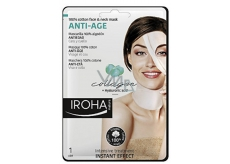 Iroha Anti-Age Cotton face and neck mask with collagen and hyaluron serum 30 ml