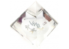 Glass pyramid clear with moon sign Gemini