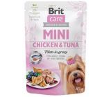 Brit Care Mini Chicken & Tuna Fillets In Gravy complete super premium food for adult dogs mini breeds pocket 85 g