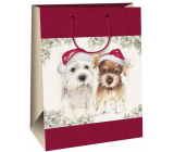 Ditipo Gift kraft bag 27 x 12 x 37 cm dogs 30