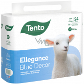 This Ellegance Blue Decor toilet paper 3 ply, 15.5 m, 24 pieces