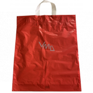 Red plastic bag with handle 36 x 45 cm