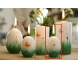 Lima Jarní relief květina svíčka bílá vajíčko 40 x 60 mm 1 kus