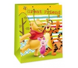 Ditipo Disney Gift Paper Bag for Kids Winnie the Pooh, Great Friend 26.4 x 12 x 32.4 cm