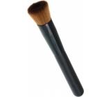 Kosmetický štětec na make-up hnědý kulatý rovný vlas černá rukojeť 14,5 cm 30450