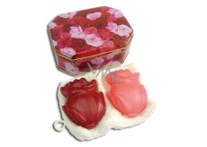 Kappus Rose luxury soap with natural gift oils in a jar of 2 x 100 g