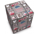 Big Soft Vánoce papírové kapesníky vůně skořice s pomerančem šedé 2 vrstvé 75 kusů