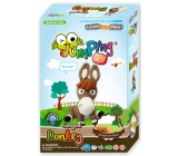 Jumping Clay Farma - Donkey self-drying modeling clay 56 g + paper model + form 5+