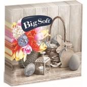 Big Soft Easter paper napkins basket, flower, lantern 33 x 33 cm 2 ply 20 pieces