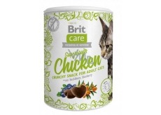 Brit Care Cat Snack Crispy chicken treat with sea buckthorn and blueberries supplementary food for adult cats 100 g