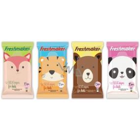 Freshmaker Kids Animals Wet Wipes 15 pcs