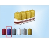 Lima Ice candle purple cylinder 40 x 70 mm 4 pieces
