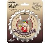 Nekupto Hobby 3in1 Bottle Opener, Magnet, Passionate Athlete 10 cm