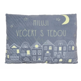 Albi Humorous pillow big I love the blow with you 36 cm × 30 cm.