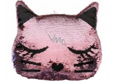 Albi Pillow with sequins Cat 30 x 23 x 7 cm